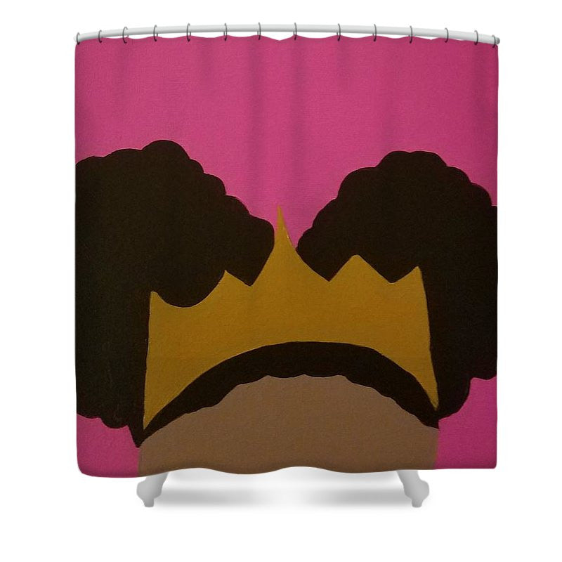 Afro Puff Princess   Shower Curtain. Size