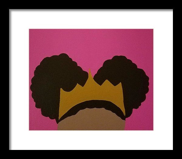 Afro Puff Princess - Framed Print
