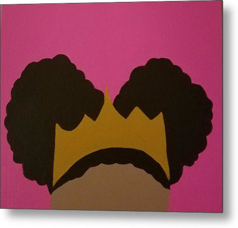 Afro Puff Princess - Metal Print