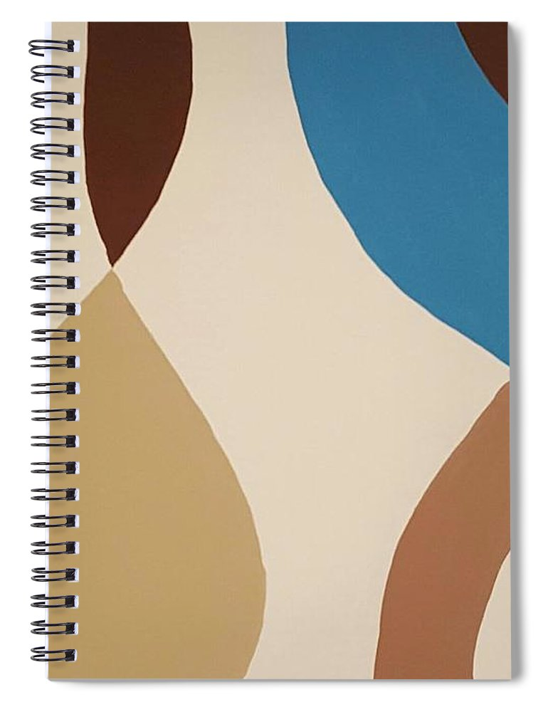 Aqua Flow - Spiral Notebook