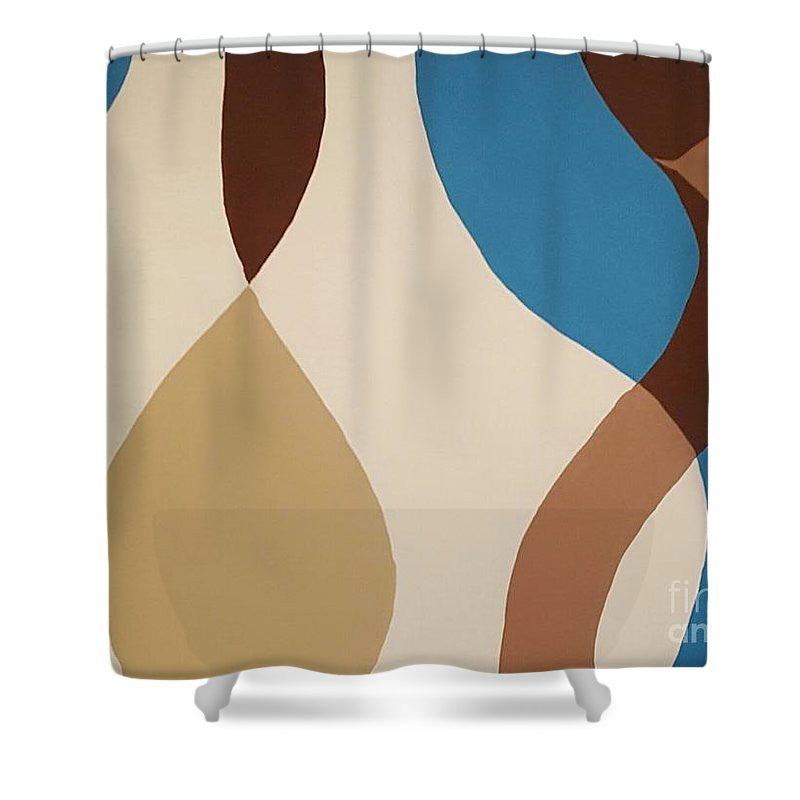 Shower Curtain - Aqua Flow