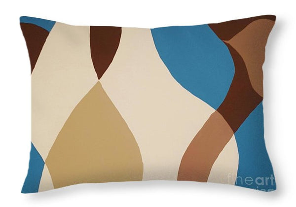 Throw Pillow - Aqua Flow