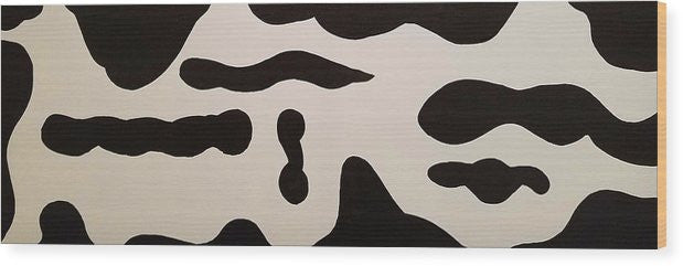 Wood Print - Black And White