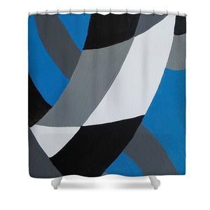 Blue - Shower Curtain