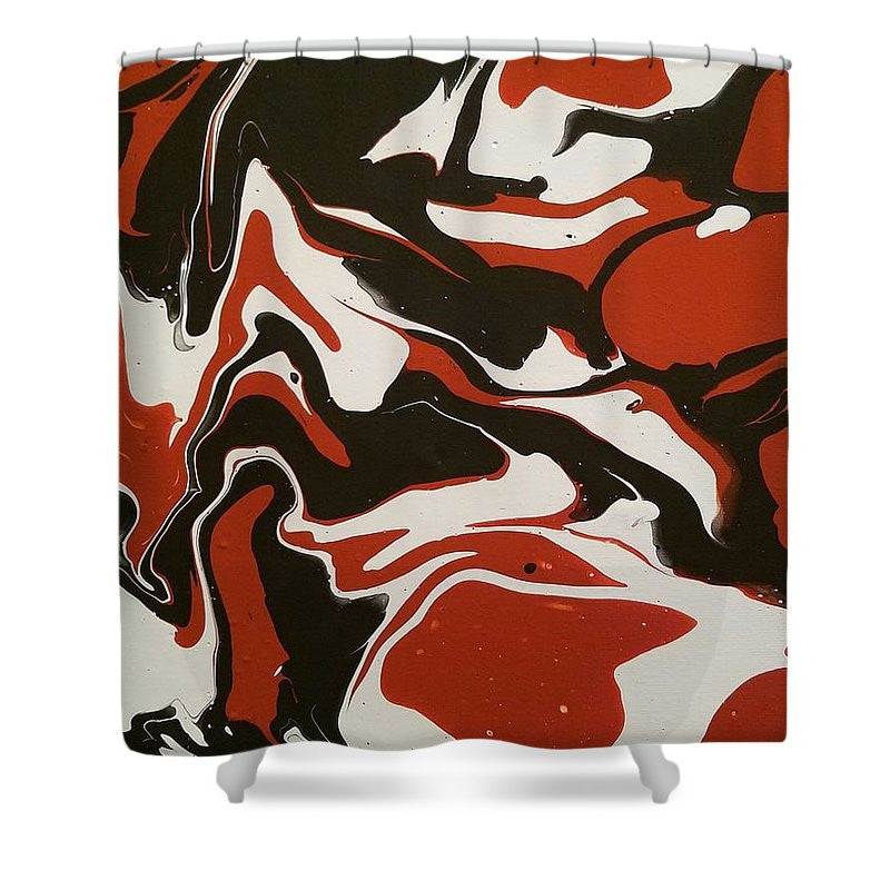 Shower Curtain - Chocolate Rust