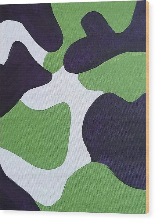 Wood Print - Abstract Camo