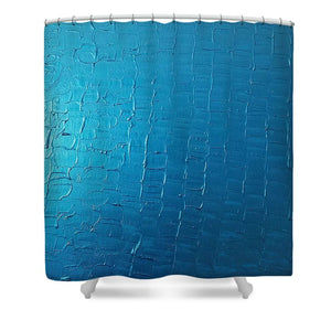 Shower Curtain - Dragons Egg- Metallic Blue