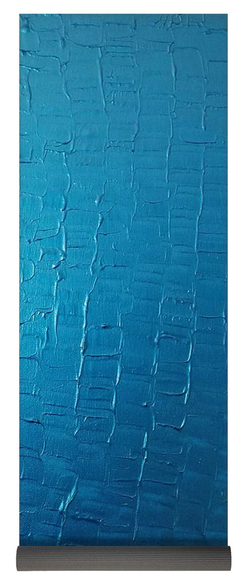 Dragons Egg- Metallic Blue - Yoga Mat