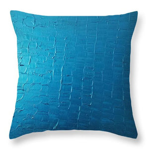 Throw Pillow - Dragons Egg- Metallic Blue