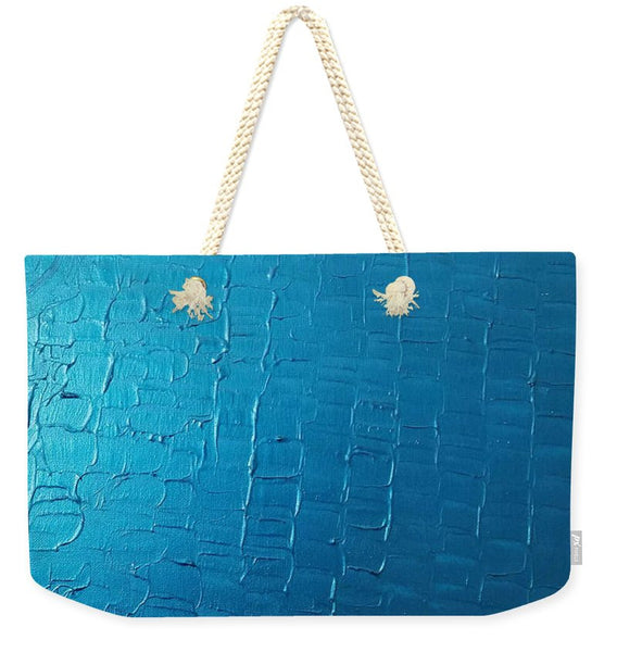 Weekender Tote Bag - Dragons Egg- Metallic Blue