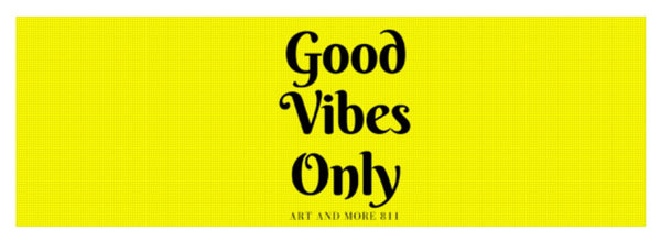 Good Vibes Only- Yellow - Yoga Mat