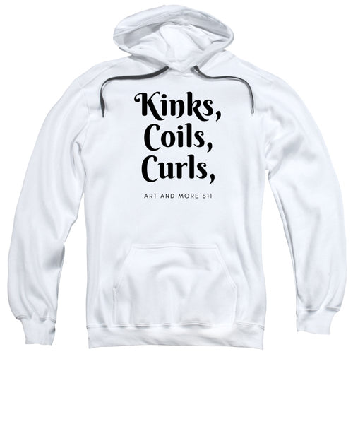 Kinks,coils, Curls - Purple - Sweatshirt