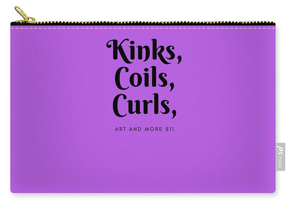 Kinks,coils, Curls - Purple - Carry-All Pouch
