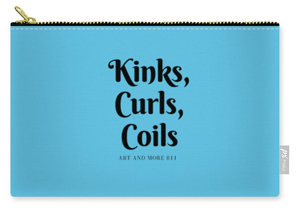 Kinks,curls,coils -aqua - Carry-All Pouch