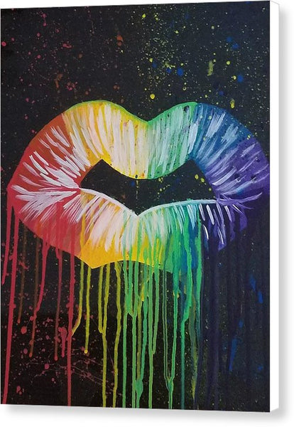 Kiss Me - Canvas Print
