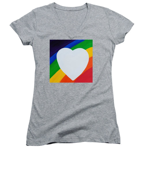 Love - Women's V-Neck T-Shirt (Junior Cut)