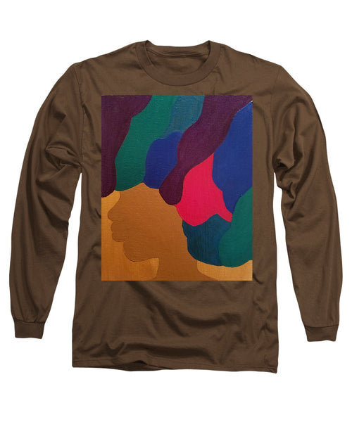 Mardi Gras Afro - Long Sleeve T-Shirt