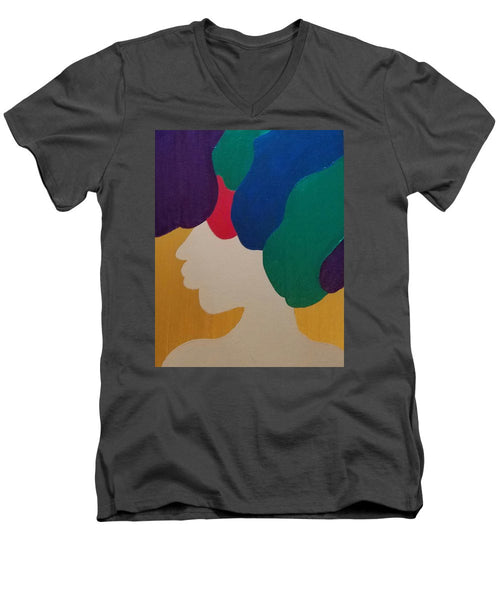 Mardi Gras Afro II - Men's V-Neck T-Shirt