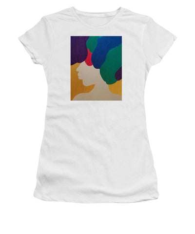 Mardi Gras Afro II - Women's T-Shirt (Junior Cut)