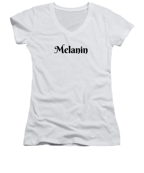 Melanin - Women's V-Neck (Athletic Fit)