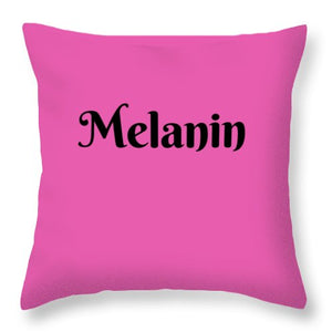 Melanin - Throw Pillow