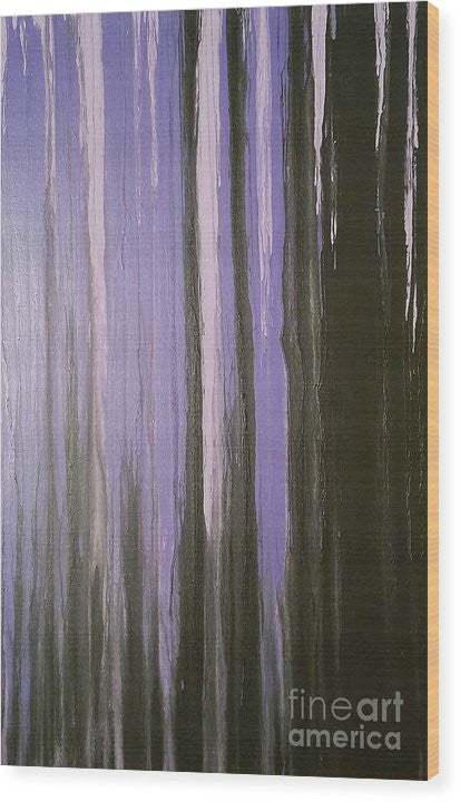 Wood Print - Purple Horizon