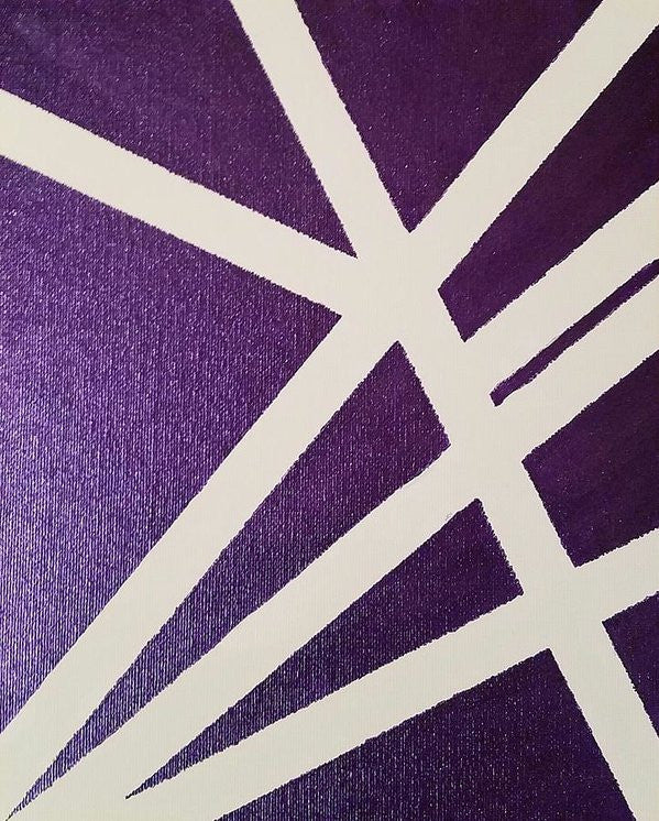 Art Print - Purple Lines