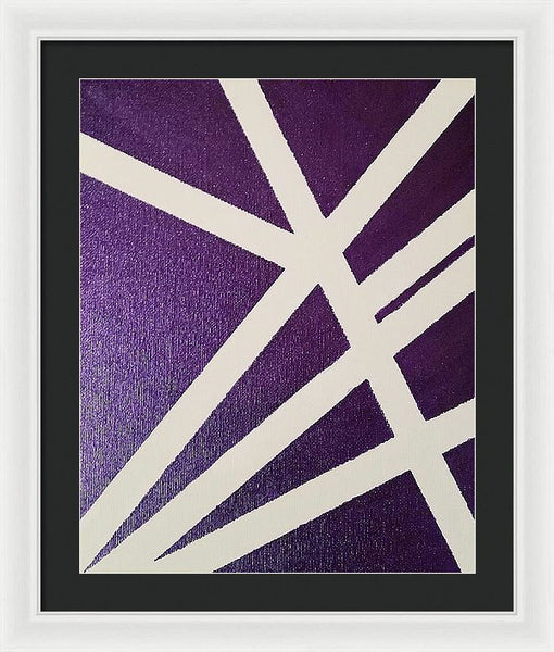 Framed Print - Purple Lines