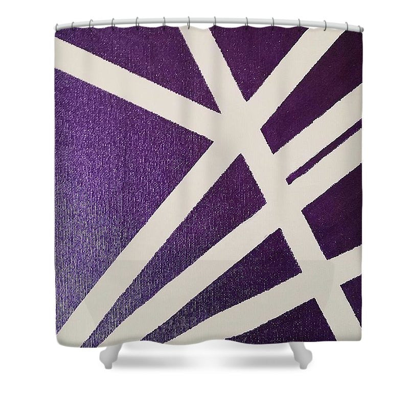 Shower Curtain - Purple Lines