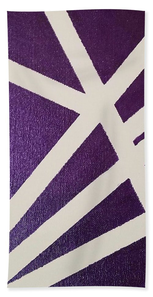 Purple Lines - Bath Towel