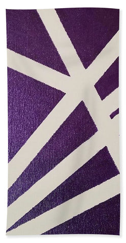Purple Lines - Beach Towel