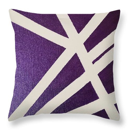 Throw Pillow - Purple Lines