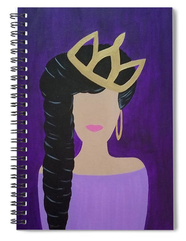 Queen With A Crown - Spiral Notebook