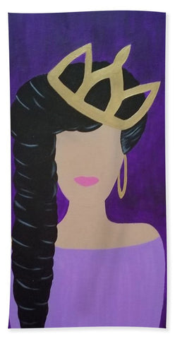 Queen With A Crown - Beach Towel