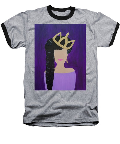 Queen With A Crown - Baseball T-Shirt