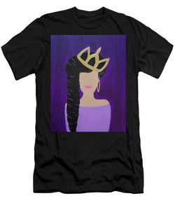 Queen With A Crown - Men's T-Shirt (Athletic Fit)