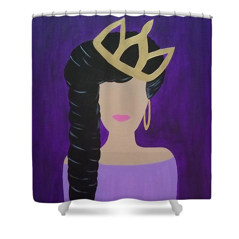 Queen With A Crown - Shower Curtain