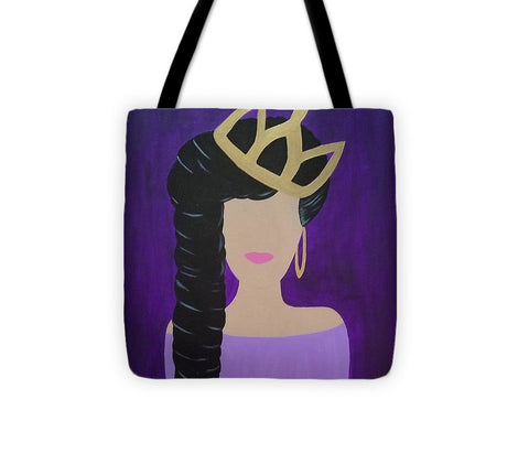 Queen With A Crown - Tote Bag