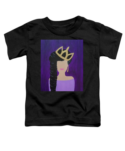 Queen With A Crown - Toddler T-Shirt