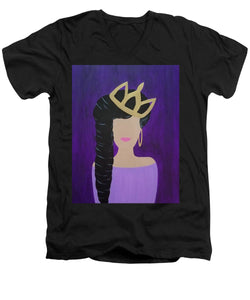 Queen With A Crown - Men's V-Neck T-Shirt