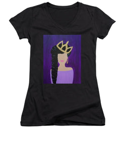 Queen With A Crown - Women's V-Neck