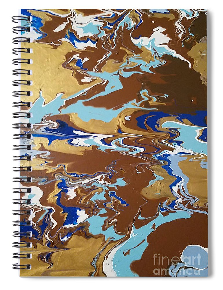 Splash Of Gold - Spiral Notebook