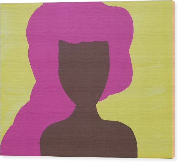 The Pink Lady - Wood Print