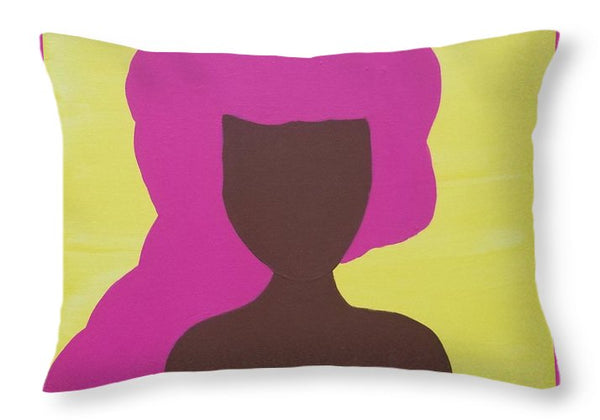 The Pink Lady - Throw Pillow
