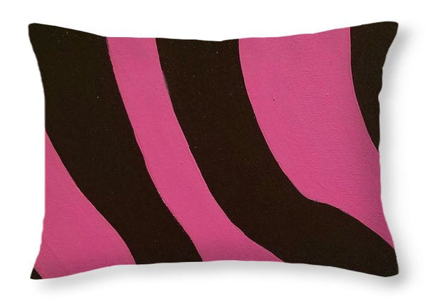 Throw Pillow - Wild Side Pink