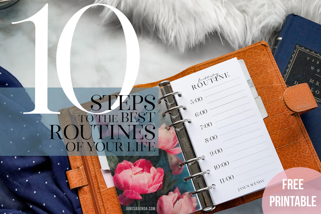 Blog about setting better routines and creating productivity using your planner.