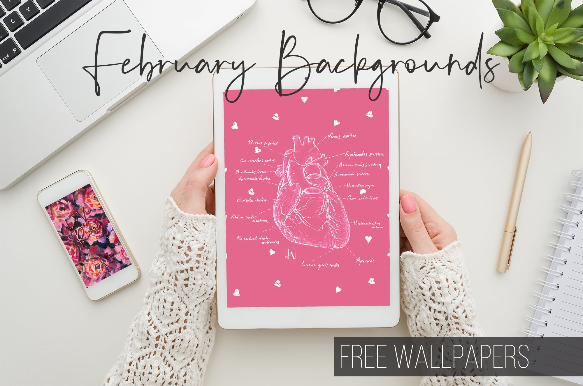 Free February Backgrounds Wallpapers by Jane's Agenda