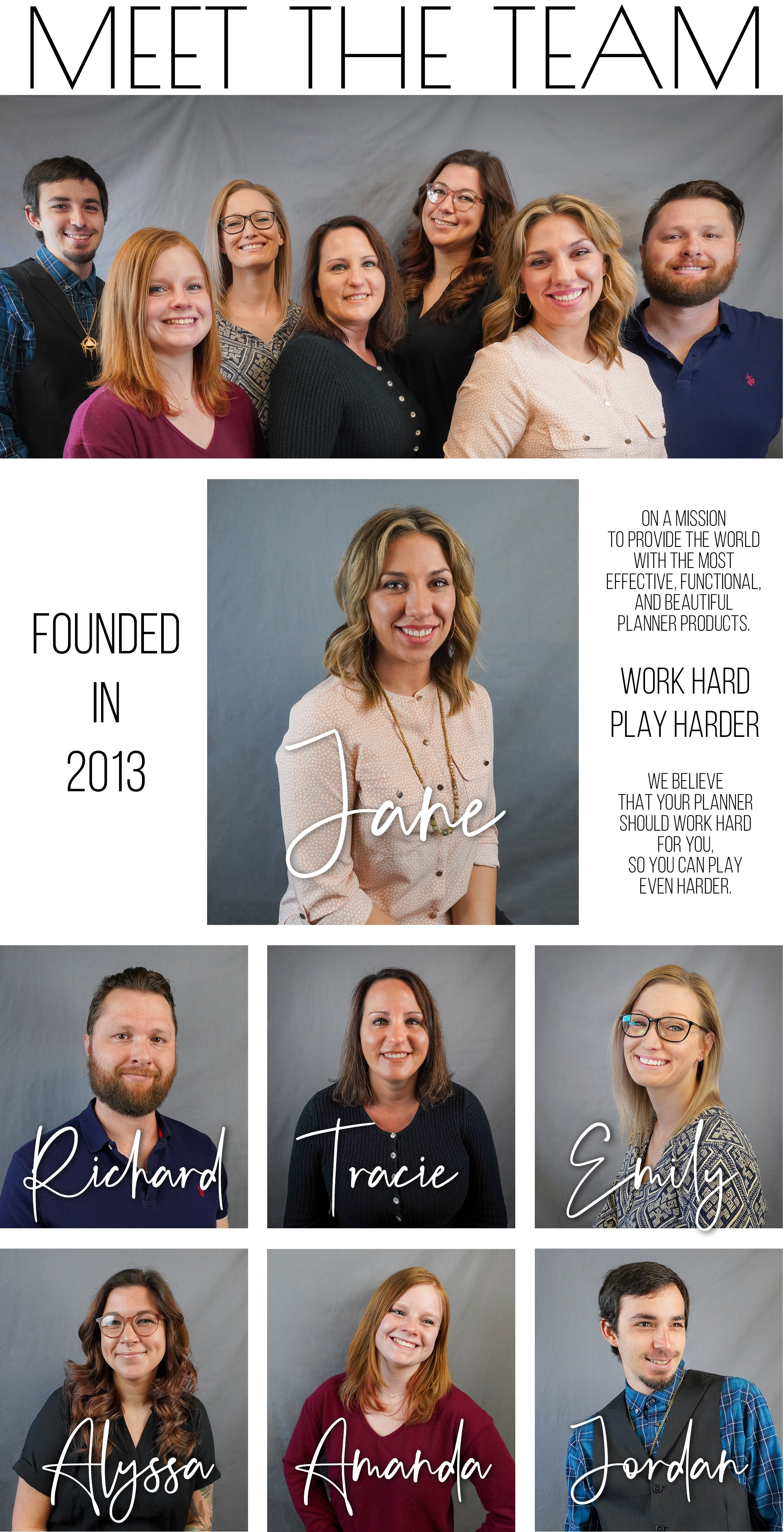 Meet the Jane's Agenda Team. Making planners and having fun.