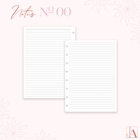 Notes Planner Inserts Lined by Jane's Agenda