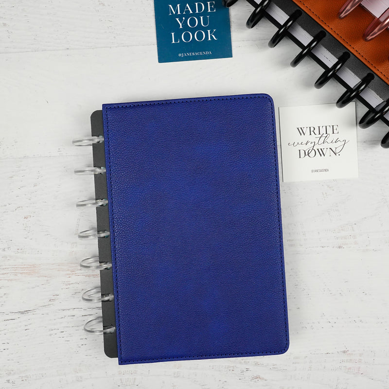 Vegan Leather Planner Cover | Discbound | Royal Blue